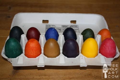 A Carton of Soy Crayon Eggs