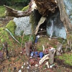 Happened upon this fairy house in the woods on an…