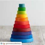 Our bestselling Rainbow Stacking Tower from Grimms Wooden Toys helpshellip