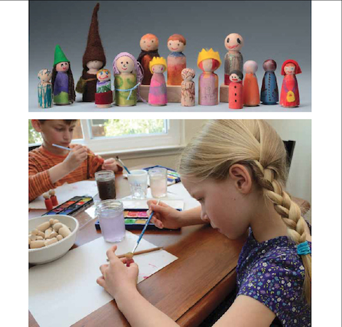 Painting Peg Dolls - Kids