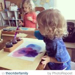 by @thecriderfamily love it! Wet-on-Wet Watercolor Painting. Paint jar holders…
