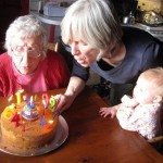 Three generations celebrate three birthdays with beeswax birthday candles from…