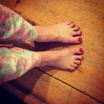Loving the pedicure given to me today by the lovelyhellip