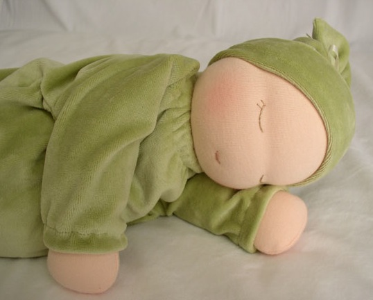 heavy-baby-waldorf-doll-sage-gree