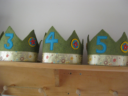Waldorf Felt Birthday Crowns