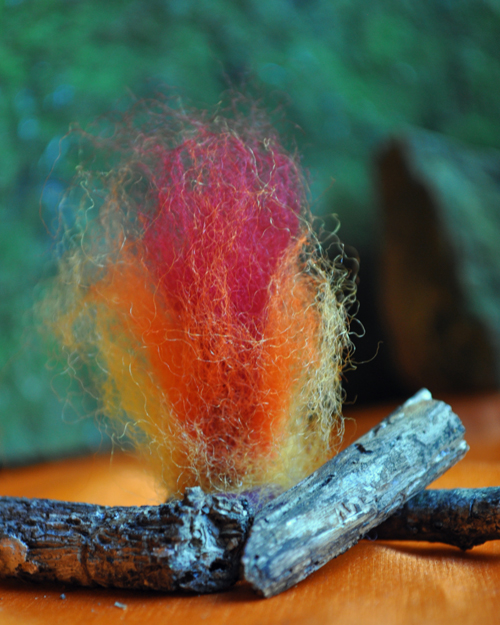 Wool Roving Fire