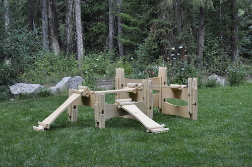 Natural Wooden Outdoor Construction Play Set