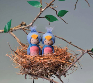 Making Peg Dolls - Bluebirds for Spring