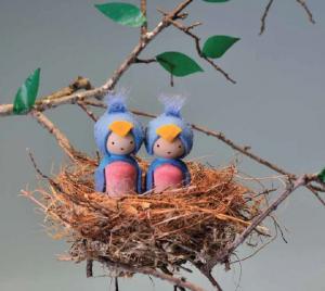 Making Peg Dolls - Bluebirds for Spring