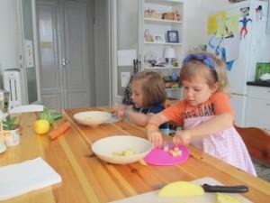 "Children making ""Stone Soup"" in Milan, Italy"