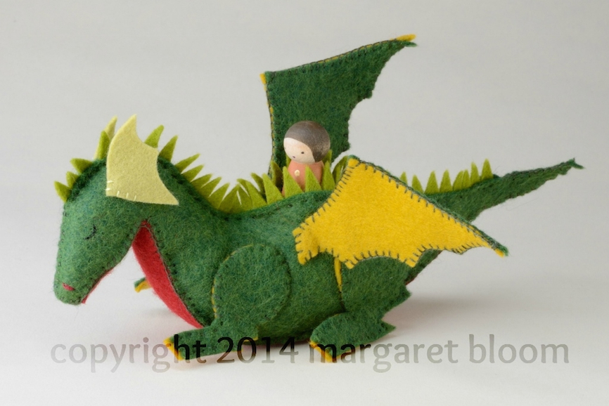 Peg Doll and Felt Dragon from Making Peg Dolls & More