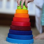 Why do we love this Wooden Rainbow Stacking Tower so?hellip